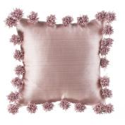 Glenna Jean Maddie Pillow, Pink with Pom Poms