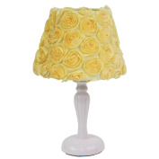 Nurture Imagination Baby Nursery Lamp Base and Shade, Yellow Rose