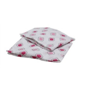 Bacati Morocan Tiles Pink/Grey 2-Piece Muslin Crib Sheets