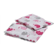 Bacati Elephants Pink/Grey 2-Piece Muslin Crib Sheets