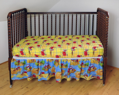 IH Farmall Tractor Mac Fitted Crib Sheet, Yellow
