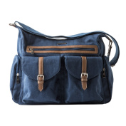 Little Unicorn Rambler Satchel Nappy Bag - Denim