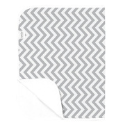 Kushies Deluxe Waterproof Changing Pad Terry, Grey Chevron