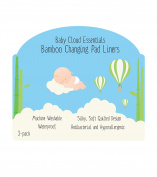 Baby Cloud Essentials - Thick 4-Layers - White Baby Bamboo Changing Pad Liners, Non-Slip, Machine Washable, WaterProof