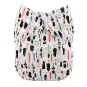 Reusable Washable Baby Cloth Nappy Nappy Fabulous Print +2 insert
