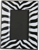 Black and White Zebra Print Picture Frame / 23cm by 18cm Desk Top Wood Photo Frame that fits a 4 by 6 Photo