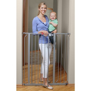 Regalo Deluxe Easy Step Extra Tall Platinum Gate, Walk-Thru Design