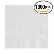 Lapaco 1 Ply 1/4 Fold White Plain Beverage Napkin -- 1000 per case.