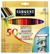 Nurture Drawing Adult Colouring Book Bundle with 50 Pack of Coloured Pencils and 3 Colouring Books