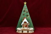 Ginger Cottages - Christmas Tree Single Cottage Displayer w/ Colour Change Tea Light - GCD114-C