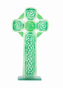 Fused Glass Gifts in a Hanging Celtic Cross Design in a Green Colour