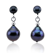 Black Freshwater Cultured Pearl Clip on Earrings 5-10mm