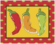 Magic Slice Non-Slip Flexible Fresh Peppers Cutting Board, 30cm x 38cm , Multicoloured