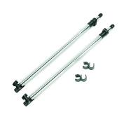 MSC® NEW Adjustable Bimini Rear Support Poles, 2.5cm Aluminium Support Poles,Fit Most Types of Bimini Tops