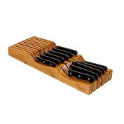 Oceanstar In-drawer Bamboo Knife Organiser, Brown