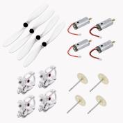 Qsmily® 4Pcs Blades & 4Pcs Motor & 4Pcs Motor Mounts & 4Pcs Gears for JJRC H26 H26C H26W H26D RC Quadcopter Parts