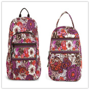 Vera Bradley Campus Backpack and Lunch Bunch Rosewood