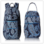 Vera Bradley Campus Backpack and Lunch Bunch Blue Bandana