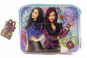 Disney Descendants 24cm Canvas Blue & Purple Insulated Lunch Bag