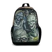 The Walking Dead Scary Ghost Zombie Skull Backpacks Luminous School Travel Bags