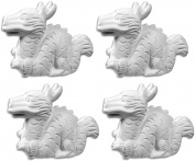The Lucky Dragon - Set of 4 - Host Your Own Ceramic Painting Party