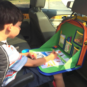 Backseat Car Organiser For Kids Holds Crayons Markers And Even an iPad Kindle or Other Tablet