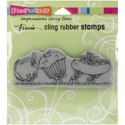 STAMPENDOUS CLING RUBBER STAMP, LUNCH LINE