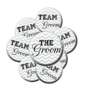 8 Chevron Team Groom Buttons - Bachelor Party Buttons - ChevronTeam Groom Buttons - Bachelor Party
