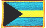 BAHAMAS FLAG - IRON ON EMBROIDERED PATCH - FLAG OF BAHAMAS - FLAGS, PATRIOTIC