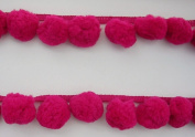 Giant Jumbo Hot Pink Pompom Bobble Ball Fringe Trim Big Pom Pom Sewing Needlework Craft