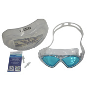 Aqua Swimming Goggles - 5 Colours can Choose with Plastic Carrying Case