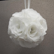 Firefly Imports Silk Flower Kissing Pomander Balls Wedding Centrepiece, 18cm , White by Firefly Imports