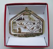 North Carolina State Christmas Ornament Raleigh Charlotte Roanoke Kitty Hawk Winston Salem Durham Great Smokys by Nations Treasures