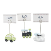 Kate Aspen Set of 6 Precious Cargo Transportation Place Card Holders, Assorted