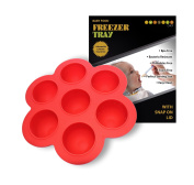Homemade Baby Food Storage Containers - Silicone Freezer Trays With Lid 60ml Red