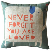 "Hatop ""Never Forget You Are Loved"" Home Pillow Case Cushion Cover"