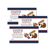 Sports Printed Baby Shower Nappy Raffle Tickets (20) - Navy Blue