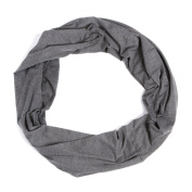 Nursing Scarf For Breastfeeding By Consider It Maid - Cotton & Polyester Blend, Soft, Lightweight & Breathable Material - Maximum Privacy - Modern, . Design - Dark Grey
