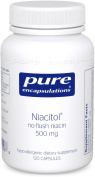 Pure Encapsulations - Niacitol 500 mg. - Hypoallergenic No-Flush Niacin to Support Digestion, Hormone Synthesis, and Tissue Formation* - 120 Capsules