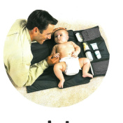 URAQT Portable Changing Mat - Baby Nappy Changing Pad - Nappy Changing Mats - Waterproof Zipper Stroller Nappies Storage Kit Station Clutch Purse for Travel Supermarket Park & Home