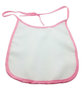 Sublimation Pink Baby Bib - Lace Fastening