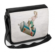 Banksy Cowgirl Laptop Messenger Bag
