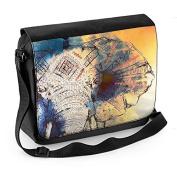 Elephant Painting Laptop Messenger Bag