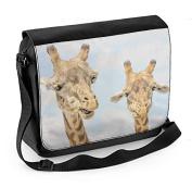 Giraffe Faces Laptop Messenger Bag