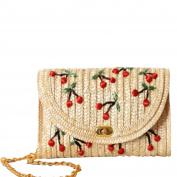 YOUJIA Straw Shoulder Bag Cherry Print Bags For The Beach / Holiday / Vacation