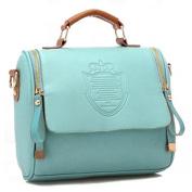 Handbag - TOOGOO(R) Fashion Women Handbag Vintage Stamping Shield Camera Satchel Shouder Bags Green