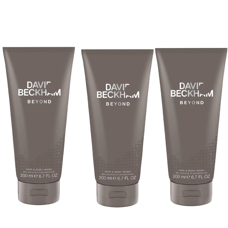 Three Pack David Beckham Beyond Hair And Body Wash 3x200ml By David