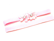 Lapeach Fashions New Gorgeous Children Plain And Flower Kylie Bands Hair Bands Set Of Two