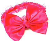 Lapeach Fashions Beautiful Children Stretchable Kylie Band Hair Band With Matching Wide Bow Tie