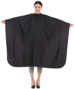 Salon Hair Cutting Gown, Barber Hairdressing Colouring Cape-black
